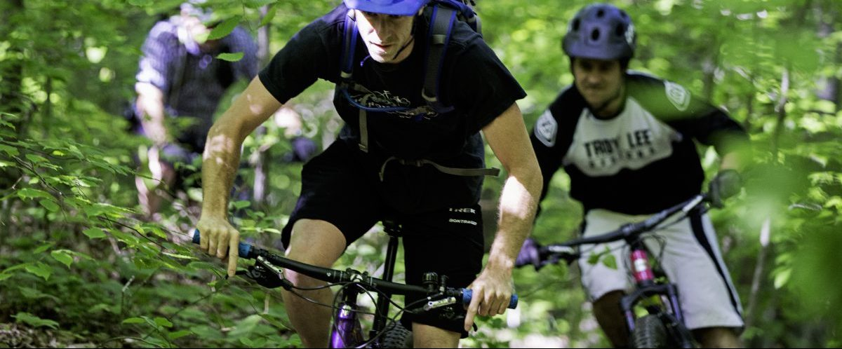 Mountain bike riders, New River Gorge, West Virginia