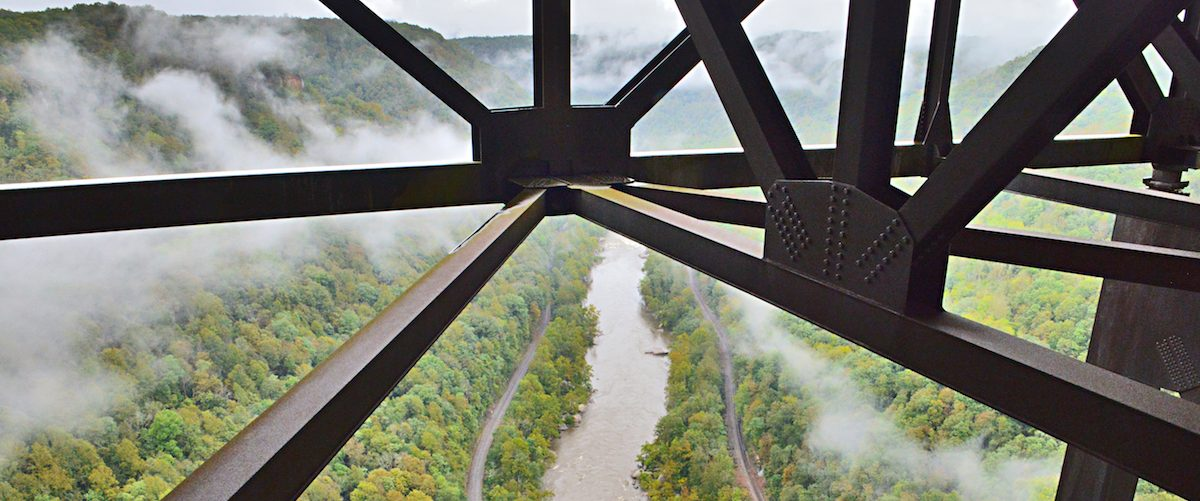 View from the New River Gorge Bridge, WV