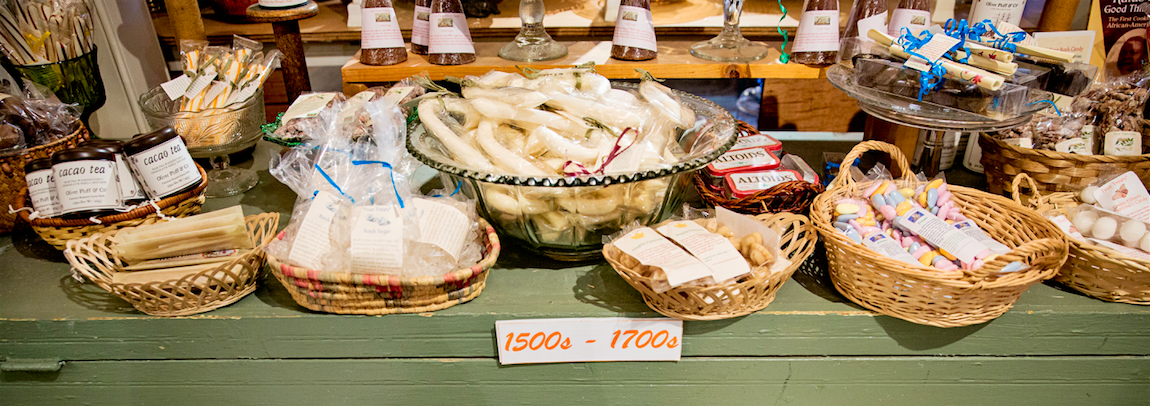 Take your sweet tooth WAY back in time at this historic candy shop image