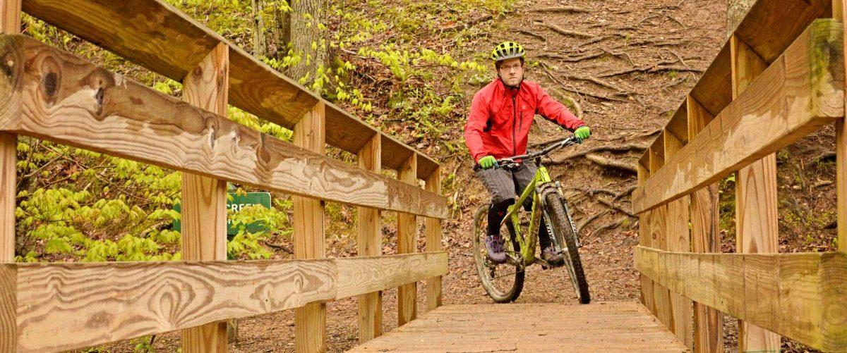 Mountain bike riding in Charleston, WV