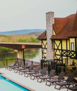 The Bavarian Inn and its infinity pool, Shepherdstown, West Virginia