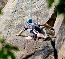 Climbing sandstone in West Virginia