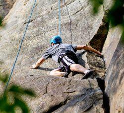 Climbing sandstone in West Virginia