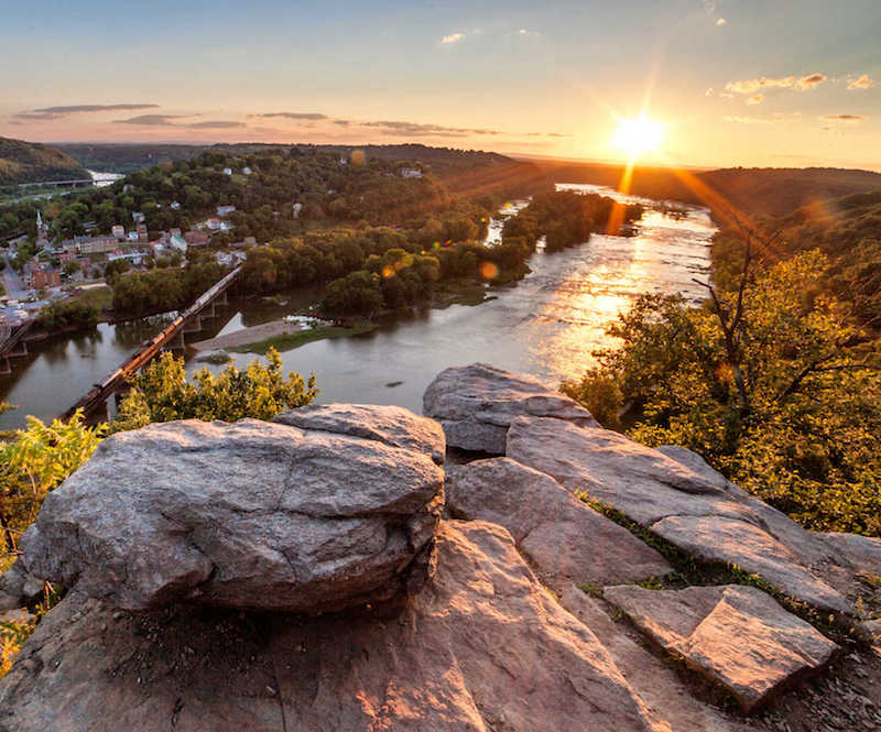 Maryland Heights overlook at Harpers Ferry, West Virginia