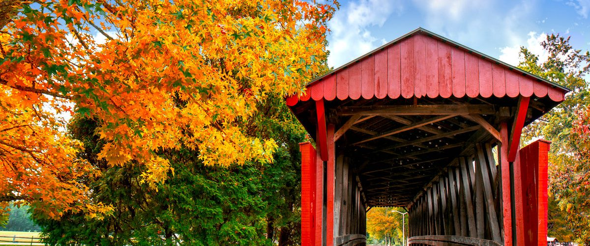 The Cedar Lakes covered bridge, Ripley, WV