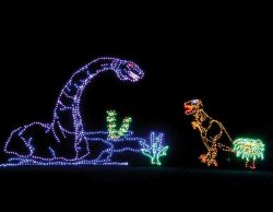 LED dinosaurs at Holiday of Lights, WV